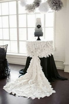 The easiest way to add ruffles to your wedding is through fabric. Here are some creative, elegant, whimsical, and just simply gorgeous choices for table skirts.