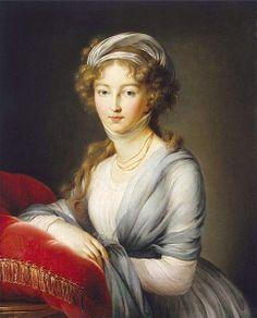 """Elizabeth Alexeievna"" by Louise Élisabeth Vigée Le Brun (1795)"