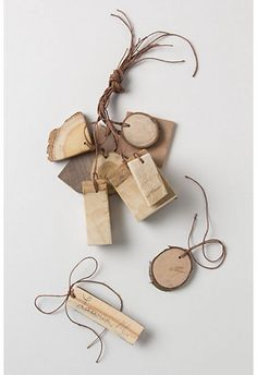 reclaimed wood gift tags
