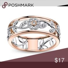 💥NEW💥Rose gold two tone fashion flower ring Two tone rose gold flower fashion ring. This is a beautiful piece! BRAND NEW, NEVER WORN, NWOT Don't forget to bundle!!  Size 10 $17 Jewelry Rings