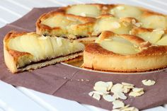 Une délicieuse tarte poires et chocolat à réaliser au Thermomix. Une recette facile et inratable à réaliser pas à pas comme sur votre TM5. Flan, Dessert Thermomix, Robot Thermomix, Thermomix Bread, Good Food, Yummy Food, Bread Cake, Cooking Chef, Chocolate Desserts