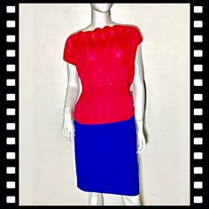 49e06e1268 Authentic Missoni Fuchsia pink knit short sleeve top . Fits a size 12. In  excellent