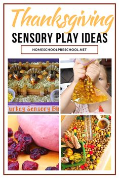 Explore sensory play with these Thanksgiving sensory activities for preschoolers! What a great way to entertain kids this Thanksgiving season.