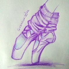 Ballerina shoes #purple  #ballett #draw #drawing #ballerina #shoes #colourfull