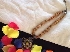 Collana Donna Col. Rame e medaglione Ferro Battuto e Giallo | eBay