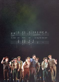 Newsies- You have no idea how sad I am that it's closing. I've seen it 7 times and am emotionally attached to this show. I saw it for the last time on Sunday and I cried through about half of it because I'm a total dork and that's what I do when seeing Broadway shows