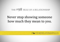The #98 Rule of a Relationship