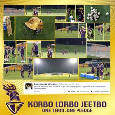 The first glimpse of the #Knights' training session in the #UAE.  #KKR #KorboLorboJeetbo #OneTeamOnePledge