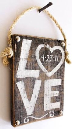 Personalized Wedding Sign Wood Custom Wedding Decor Beach Wedding Outdoor Country Wedding Reception Vintage Wedding Photo Prop Bridal Shower. $25.00, via Etsy.