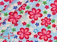 Sweatshirt Stoff - Blütenhimmel hellblau