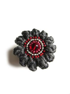 Crochet Rings, Etsy, Jewelry, Crochet Jewellery, Glass Beads, Red, Cotton, Jewlery, Jewerly