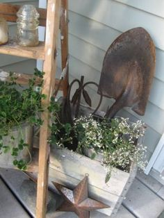 Chipping with Charm: Some Junk on My Porch...