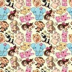 Cute Seamless pattern design vector 01