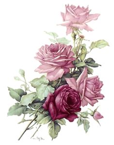 Ceramics & Pottery San Do Pink Rose Bouquet Flower Select-A-Size Ceramic Waterslide Decals Bx & Garden Decoupage Vintage, Decoupage Paper, Vintage Diy, Vintage Cards, Vintage Images, Arte Floral, Pink Rose Bouquet, Pink Roses, Flower Images