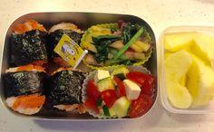 Kindergarten bento – salmon onigiri (2/Jun/16) | SMALL TOKYO KITCHEN