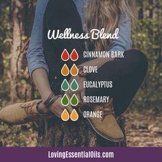 Top 12 Antibacterial Essential Oils - Wellness Blend Diffuser Blend by Loving Essential Oils