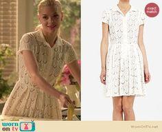 Lemon's cream lace shirtdress on Hart of Dixie. Outfit Details: http://wornontv.net/5920/ #HartofDixie