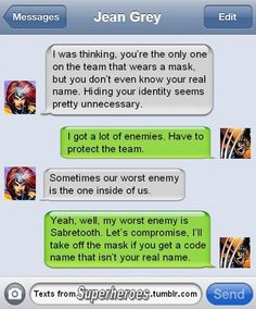 Texts From Superheroes: Jean Grey vs. Wolverine on the Subject of Names