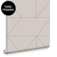 Geo Taupe / Khaki Wallpaper