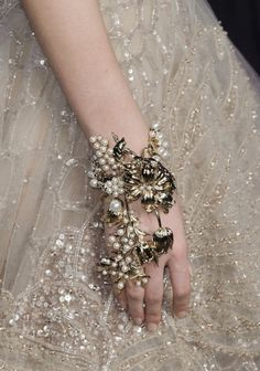 Elie Saab 2015.  This bracelet is so interesting.  You could make it out of old jewelry.