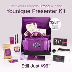 Our presenter kits are just icing on the cake.  You get $281 in full size products for $99.  We're not like most companies.  We do it different.  I'm excited to be part of a company that encourages women up uplift empower and validate others not tear them down.  Be part of something BIG in 2017.