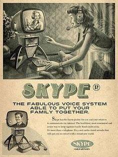 Vintage: Facebook, Tweeter, Youtube, Skype.