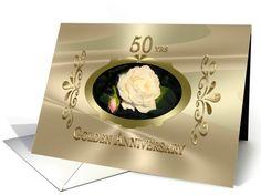 Golden Wedding Anniversary rose card (489220) http://www.greetingcarduniverse.com/anniversary-wedding-cards/50th-anniversary/golden-wedding-anniversary-rose-489220?gcu=48017004048 #gold #goldenwedding #anniversarycards