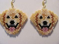 Dog Beaded Earings