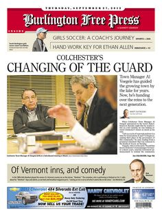 Today's Free Press front page http://www.burlingtonfreepress.com/