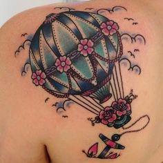 Tattoo Montgolfière old school