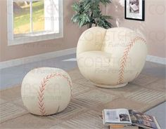 Sports Themed boys bedroom ideas for Chairs