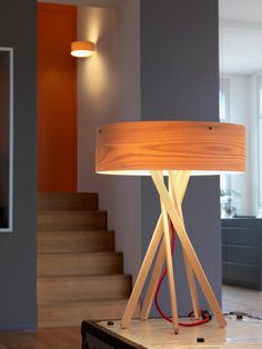 Shop Interior-Deluxe for Table Lamps and the best-curated selection of contemporary lighting. Wooden Table Lamps, Wood Lamps, Wood Table, Contemporary Table Lamps, Modern Lighting, Home Decor, Desktop Lamp, Google Search, Fluorescent Lamp