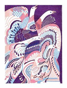 喉に一輪 A flower reflected in the throat Eraser prints, yasuko aoyama Japanese Patterns, Japanese Prints, Japanese Art, Creative Illustration, Illustration Art, Japanese Graphic Design, Illustrations And Posters, Asian Art, Textile Art
