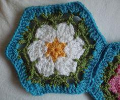 Karen Wiederhold: Free Crochet Pattern: Primrose Hexagon Motif