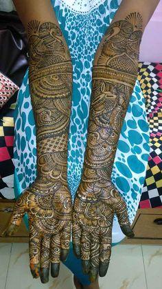 Anita's Mehndi Artist, Bridal Mehndi Artist in Mumbai Arabic Bridal Mehndi Designs, Rajasthani Mehndi Designs, Wedding Henna Designs, Khafif Mehndi Design, Mehndi Designs Feet, Full Hand Mehndi Designs, Henna Art Designs, Mehndi Designs 2018, Mehndi Designs For Girls