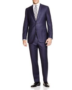 Canali Windowpane Firenze Regular Fit Suit - 100% Bloomingdale's Exclusive