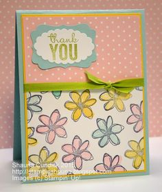 a card a day: Spring Flower Thanks