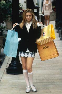Cher Horowitz, marathon shopper #clueless #90sinspo