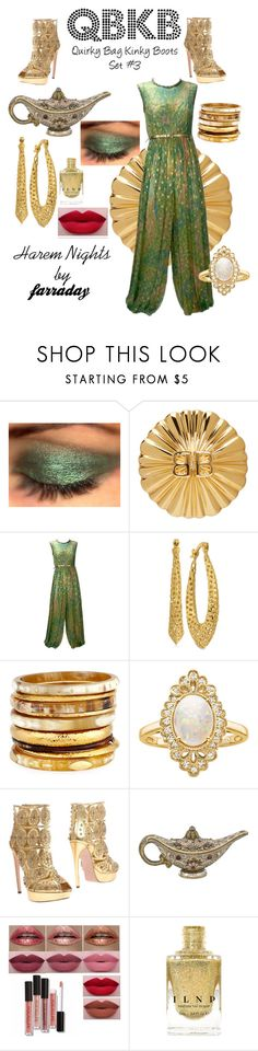 """""""Harem Nights"""" by farradaymg ❤ liked on Polyvore featuring Balenciaga, Mollie Parnis, Ashley Pittman, Effy Jewelry, Alexander McQueen, Judith Leiber, quirky, kinky and harem"""