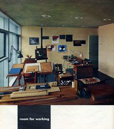 Ann and Paul Rand's studio, 1953