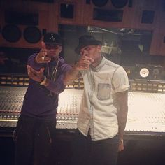 Chris Brown in studio with Kid Ink New Hip Hop Beats Uploaded EVERY SINGLE DAY http://www.kidDyno.com
