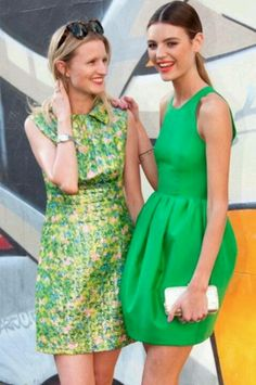 Spring / summer - dressy style - casual look - green spring dresses