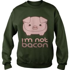 Im Not Bacon Funny Pig Animal Pun Tshirt | Best T-Shirts USA are very happy to make you beutiful - Shirts as unique as you are.