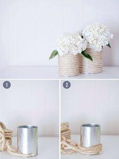DIY. Flower pots.