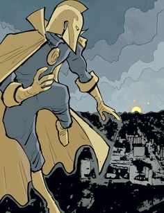 "(Doctor Fate v4 #16 ""Judgment Day"" 2016) - Sonny Liew, Colors: Lee Loughridge"