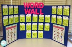 5 Ways to Inspire Young Writers, including how to create a space saving word wall in a space young children and even older children can use. Language Activities, Classroom Activities, Classroom Organization, Classroom Ideas, Future Classroom, Classroom Management, Interactive Word Wall, Interactive Learning, Portable Word Walls