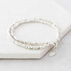 Modern Silver Wrap Bracelet