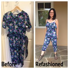 It's technically fall right now, but given the heatwave we are in, it still feels like the dog days of summer. I had a hankering to make a summer jumpsuit, and when I saw this floral dress at the ...