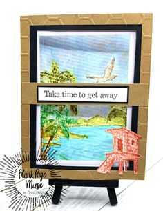 Summer Greetings! Today I am excited to share this beach-y watercolor greeting I created with distress inks. The Sentiment I used is to remind myself and the person I was making the card for to take time to get away during these trying times. Even if the get away is only to your own garden.Blank Page Muse SuppliesMountains & Beaches Rubber Stamp SetOther SuppliesDistress InksWater Color brushwater color paperEmbossing foldercard basecardstockSecure water color p Make Your Own Card, Blank Page, Distress Ink, Mixed Media Art, Beaches, Muse, Stamps, Greeting Cards, How To Get