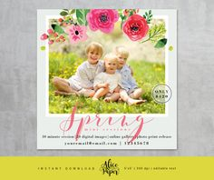 • Instant download •  Spring Mini Session Template  DETAILS:  • 1 PSD file (only front) • 5x5 inches • easily customize text (words spring you cant change) • layered photoshop PSD files at 300 dpi • clipping masks, easy to drop your photos in • name of the fonts used included • photos are not included with this template   You will need basic knowledge of Adobe Photoshop to make changes in templates. AliceAndPaper products are created for photographic uses. These designs are copyrighted by…